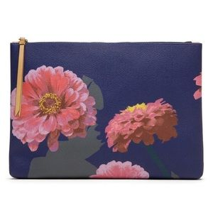 Banana Republic Gerber Daisy Leather Pouch for sale